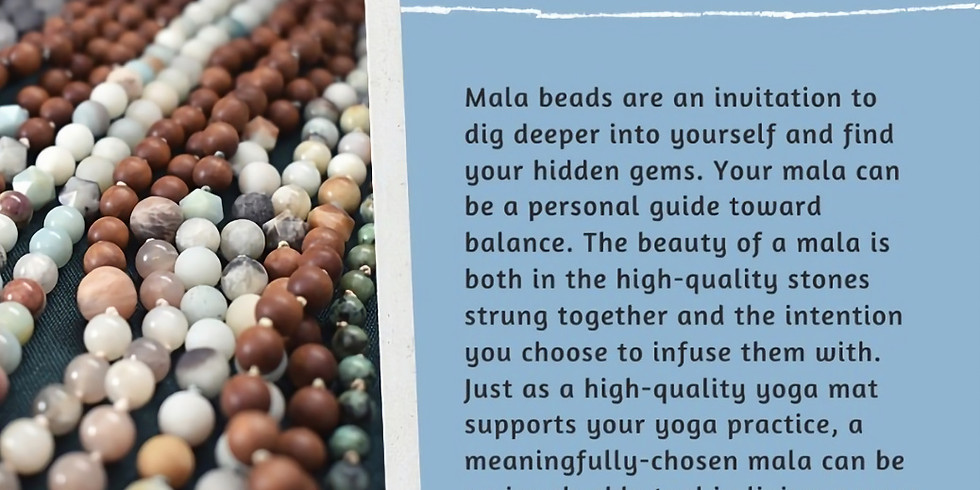 Book a Private Or Group Session: Make Your Mala with Kara!
