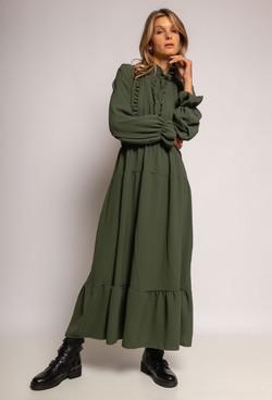 my-style-robe-longue-plissee-avec-volants-kaki-1