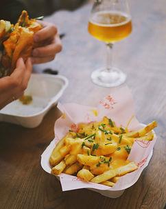 Kwispy Cheesy fries at Farr's