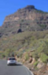 Driving in te Gran Canarian mountains