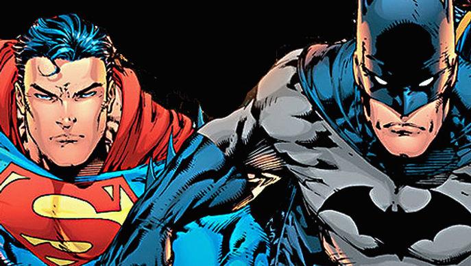 Superman an Batman in action