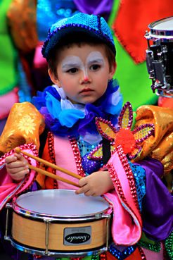 Child at Santa Cruz Carnival