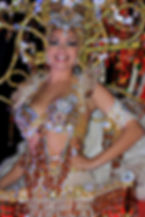 Glamorous costumes at the Tenerife Carnival in Santa Cruz