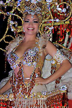 Glamorous costumes at the Tenerife Carnival in Santa Cruz