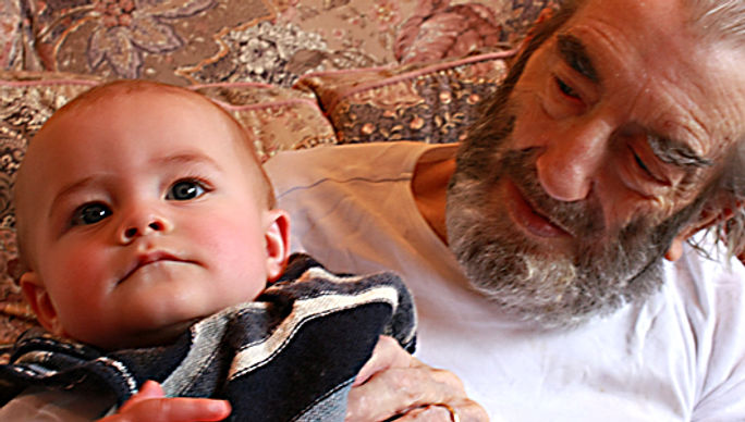 My father with his first great grandchild