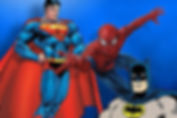 Superman, Batman and Spiderman