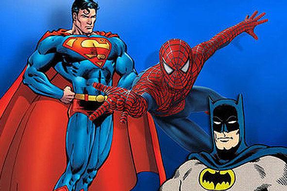Superman, Batman and Spiderman
