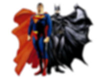 Superman and Batman cartoon