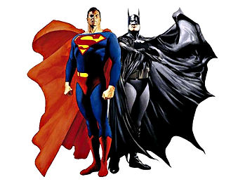 Superman and Batman cartoon