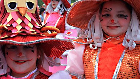 Children at Santa Cruz Carnival Tenerife