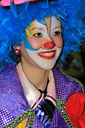 Clown at Carnival in Santa Cruz Tenerife