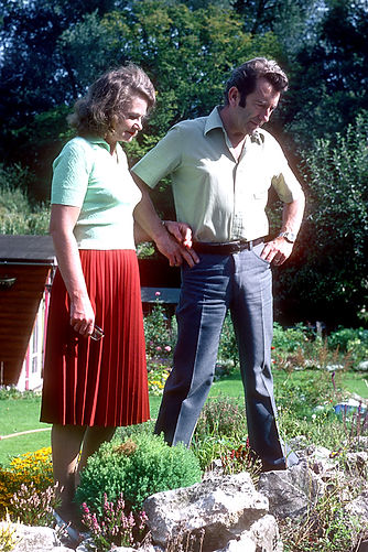 Mum and Dad in our Back Garden
