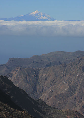 Gran Canaria and Mt Teide on Tenerife