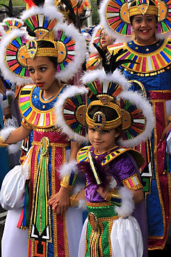 Children at Canary Islands Carnival