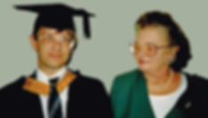 My graduation ceremony at Anglia Universityin 1996