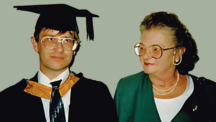 My graduation ceremony at Anglia Universityin 1996