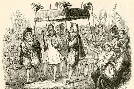 Original illustration from 'The Emperor's New Clothes' by Vilhelm Pedersen