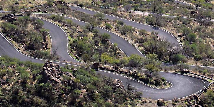 Winding ountain roads on Gran Canaria