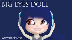 オリジナルキャラクター BIG EYES DOLL Blue