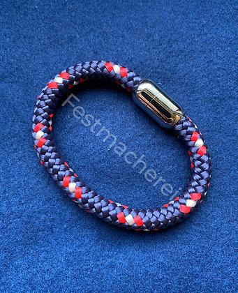 Armband - FLOKI / Farbe: marineblau rot weiss