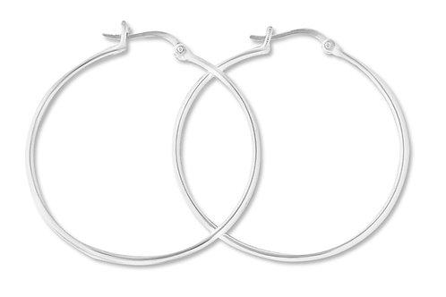 """Sterling Silver 1.5"""" snap hoop earring"""