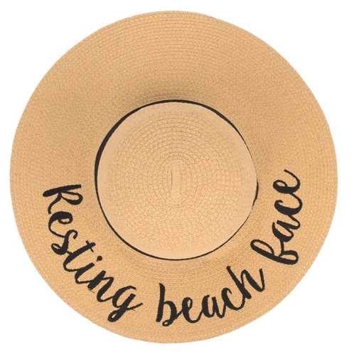 """CC brand floppy beach hat w/ 4"""" brim. Totally packable to hold shape."""