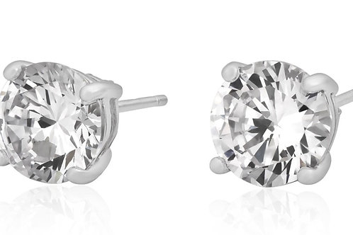 Sterling Silver 5mm CZ round stud earrings