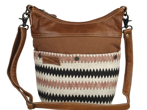 Drooly crossbody (lightweight canvas & leather)