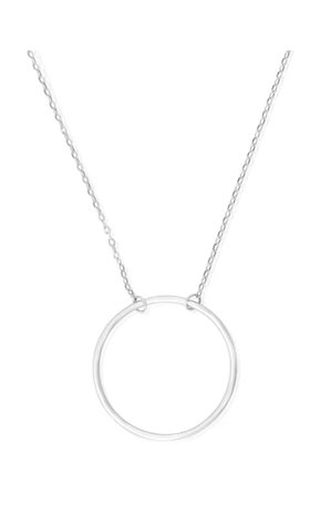 Sterling silver O necklace