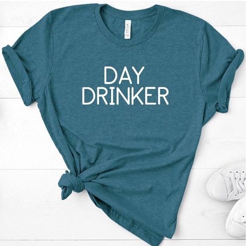 Day Drinker Tee - heather blue