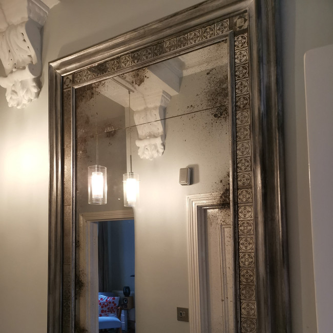North London Victorian Tile Mirror
