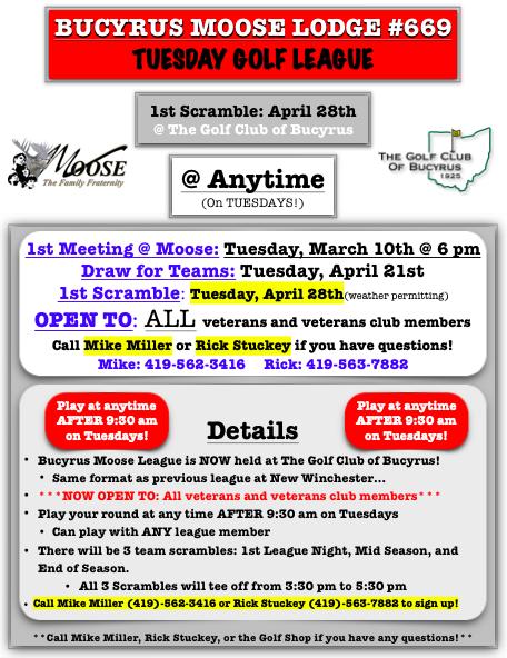 Tuesday Moose League