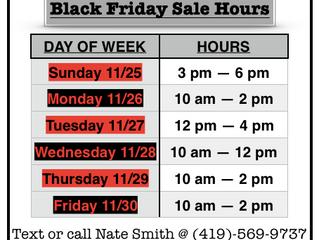 2018 Black Friday Sale Golf Shop Hours