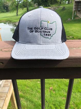 Trucker Hat (Golf Club of Bucyrus Logo, Heather/Black)