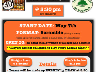 OLD 30 BBQ MONDAY SCRAMBLE LEAGUE