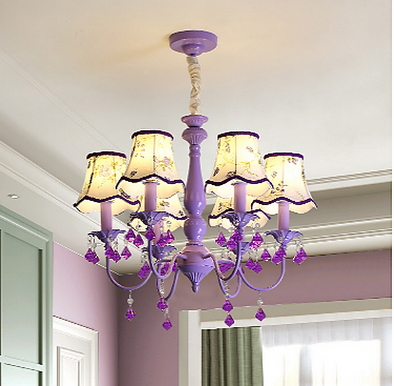 Nairi Purple Shabby Chic Chandelier (PO 421)