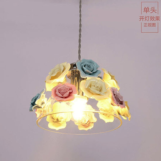 Bowl Rose Hanging Lamp (PO318)