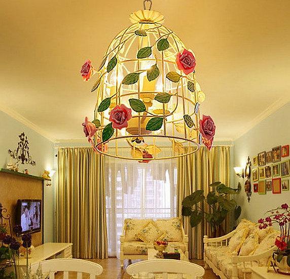Green Cage Lamp (PO39)