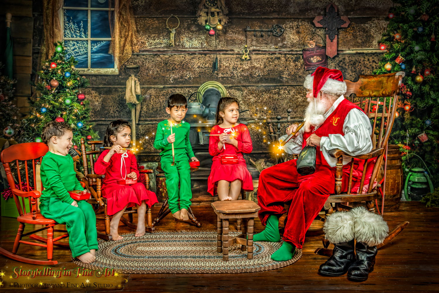 Santa teaches how to paint with magi
