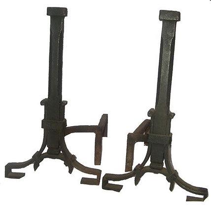 1910 Iron Andirons