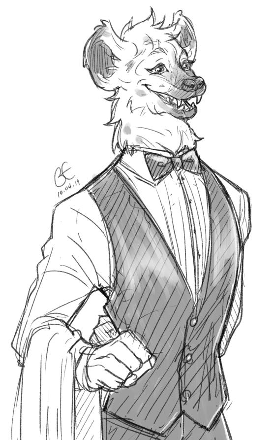 Anthro Practise: Hyena