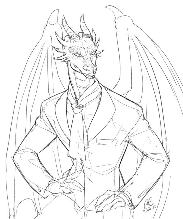 Anthro Practise: Dragon