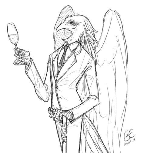 Anthro Practise: Secretary Bird
