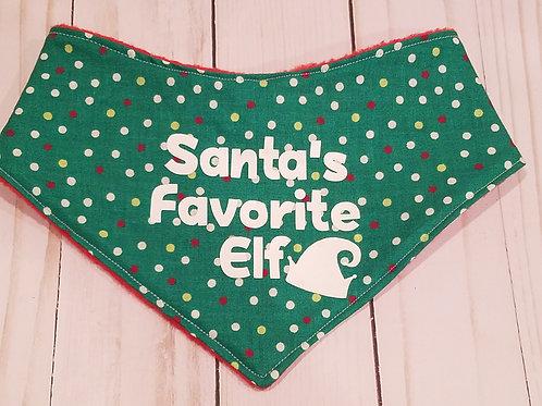 Santa's Favorite Elf Bib