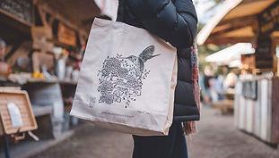Close up of tote bag