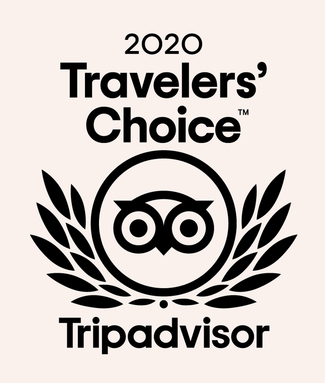 Winner: 2020 Travelers' Choice Award