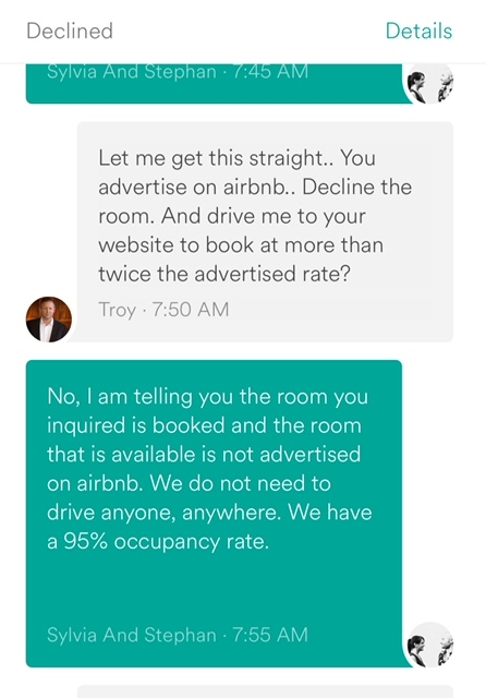 Inquiry via Airbnb - Message 2