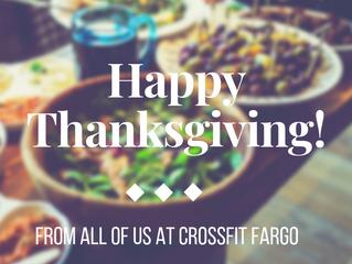 Thursday November 22, 2018 - Happy Thanksgiving!