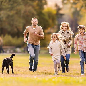 Familie og hund