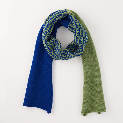 Chunky Scarf, Green and Blue